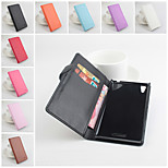 Protective PU Leather Magnetic Vertical Flip Case for Sony Xperia T3(Assorted Colors)