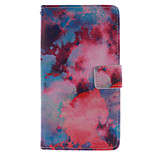 Fashion Design COCO FUN® Red Cloud Pattern Wallet Slot Full Body PU Leather Case for LG G4