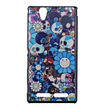 Skull Pattern Hard Cover Back Case Plastic for Sony Xperia T2 Ultra