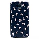 Elefanten-Muster PC-Telefonkasten für Samsung-Galaxie i9600 s5