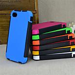 Alto impacto caso 2 in1 híbrida dura de silicona para el iphone 4 / 4s (colores surtidos)