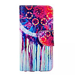 Campanula Pattern PU Leather Phone Case For iPhone 6