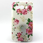 Peony Pattern TPU Material Soft Phone Case  for Alcatel C9