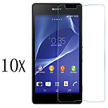 [10-Pack]Professional High Transparency LCD Crystal Clear Screen Protector with Cleaning Cloth for Sony Xperia E4
