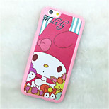 Character  Pattern Paste Paper Painting TPU Phone Case For iPhone 6