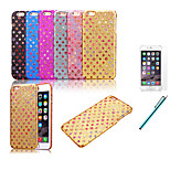 Colorful Glitter Stars Bling Back Case Cover For Apple iPhone 6 4.7 inch+Protective Film+Pen (Assorted Colors)