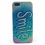 Smile Pattern Transparent Frosted PC Back Cover For  iPhone 5/5S