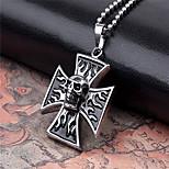 Unique Skull Cross Titanium-Steel Pendant(Black)(1Pc)