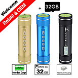Besteye® 32GB TF Card and X5 4400mAh Power Bank Charger/Bike Sport Speaker Aux Aluminum Portable Sound Speakers
