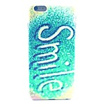 Glitter Smile Pattern PC Material Phone Case for iPhone 6 Plus