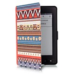 6 Inch Ethnic Totem Pattern PU Leather Case with Magnetic Buckle for Amazon Kindle Paperwhite
