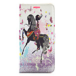 Butterfly Girl Ride Horse Pattern Diamond Wallet Style PU Leather with Card Slot Case for LG G4