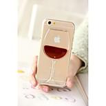 Hot sale 3D Cocktail Bottle Liquid Transparent Case Cover For Apple iPhone 6 6 Plus 5 5s Cases Back Covers