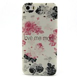 Rose Pattern PC Hard Back Cover Case for iPhone 5/5S