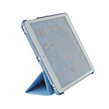 Ipad mini 2/3 PU leather folio case with transparent back cover, three folders, stand and auto sleep/wake function