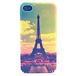 Choi Tower Pattern Transparent Frosted PC Back Cover For  iPhone 4/4S