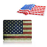 Newest Fashion American Flag Pattern Full Body Hard Case with TPU Keyboard Cover for Macbook Retina 13.3 inch