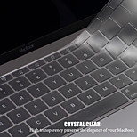 LENTION Ultra Thin TPU Keyboard Cover for The Latest 12-inch Apple MacBook Premium Transparent Clear Protective Skin