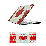 Canada Flag Pattern Luxury Flip Full Body Case Cover and TPU Keyboard Cover for Macbook Pro 15.4 inch