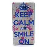 Keep Calm And Smile On Pattern PC Hard Material Phone Case for Sony Xperia M2 S50h D2303 D2305