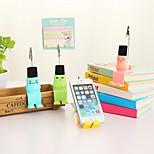 1PCS Multifunctional Cute Notes Folder Clip/Cellphone Holder/ Keyboard Brush Random Color