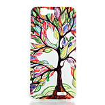 Colored Trees Pattern of Transparent Frosted PC Material Phone Case for Huawei Ascend G7