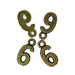 Beadia 100PCS Antique Bronze Alloy Charms 7x16mm Number 6 Pendants DIY Accessories