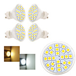 5 pcs Ding Yao GU10 5W 24X SMD 5050 250-350LM 2800-3500/6000-6500K Warm White/Cool White Spot Lights AC 220-240V