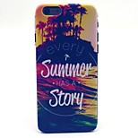 COCO FUN® Great Summer Story Pattern Hard PC IMD Back Case Cover for iPhone 6