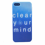 Blue Letters Pattern PC Hard Case For iPhone 5/5S