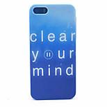 estuche rígido letras azules patrón de pc para el iphone 5 / 5s