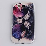 Bespectacled Cat Pattern TPU Material Soft Phone Case for Samsung S3 I9300
