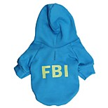 Cool Fluorescent FBI Pattern Fleece with Hoodie for Pets Dogs (Assorted Colors, Sizes)