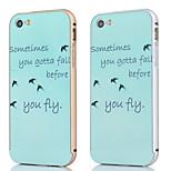 estructura de metal + volar patrón plano posterior hacia atrás la cubierta del caso para el iphone 5 / 5s (colores surtidos)