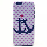 Anchor Pattern PC Material Phone Case for iPhone 6