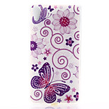 Butterfly Pattern Material TPU Soft Phone Case for Sony Xperia Z3