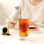 Tea Infuser Tea Spoon Sweet Heart Shape Heat Resistance Tea Strainer (Random Color)