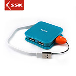 SSK® USB 2.0 4-Port High-speed Hub USB Chargers Strong Power for Portable Hard Disk