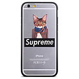 Fashion Clothes Cat Pattern Frame Back Cover for iPhone 6
