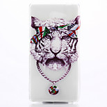 Tiger Pattern TPU Material Phone Case for Sony M2