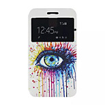 Colored Tears Pattern PU leather phone Case For Lenovo A 328