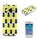 divattervező Coco fun® fekete&sárga ananász mintás puha IMD TPU vissza tok Samsung Galaxy Ace 4 g313h