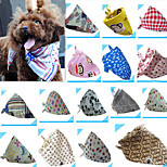 100%Cotton Microfiber Pet Bibs for Pets Cats Dogs (52*26cm, Random Colour)