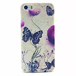modello di farfalla pc acidato trasparente della copertura posteriore per iPhone 5 / 5s
