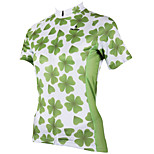 PaladinSport Women Short Sleeve Cycling Jersey New Style Clover DX508 100% Polyester