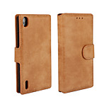 YMX-Retro Scrub PU Leather Full Body Cover with Stand and Card Slot for Huawei P7
