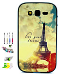 Tower Pattern Combo Material Phone Case And Support Dust Plug Stylus Pen  for Samsung Galaxy Grand Neo I9060