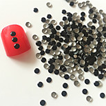 200PCS 3mm Black Roundness Alloy Nail Art Golden&Silver Decorations
