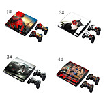 Skin Sticker Cover Decal For PS3 PlayStation 3 Slim + 2 Controllers