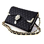 Long Chain Wallet Style PU Flip Leather Case for iPhone 6 4.7''